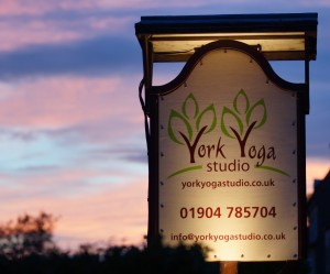 York Yoga Studio Sign