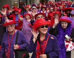 red hat & purple
