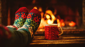 relaxed wooly sock feet